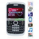 E75 Quad Band Dual Cards Dual Standby Dual Cameras Color TV Bluetooth  Phone - Black