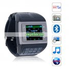 V6 Quad Band Single Card 2.0 MP Camera Bluetooth 1.33-inch Touch Screen Watch Phone - Black