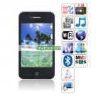 HiPhone H6 Quad Band Dual Cards Dual Standby Dual Cameras WIFI Color TV Bluetooth Java Phone - Black