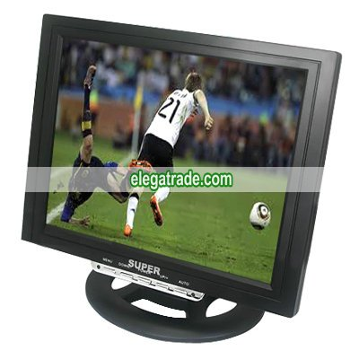 12 Inches TFT LCD Display 75Hz External Antenna Input Jack S-Video Input Jack AUDIO AV Input