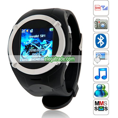 MQ998 Quad Band Single Card Single Standby Pinhole Camera Bluetooth  Watch Phone