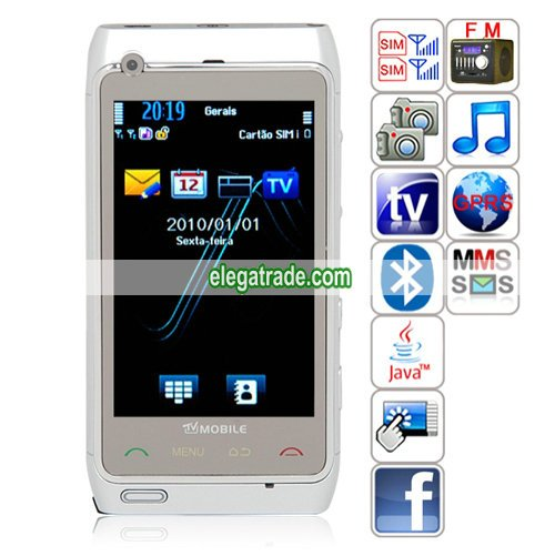 CJ N8+ Quad Band Dual Cards Dual Standby Dual Cameras Color TV Bluetooth JavaPhone