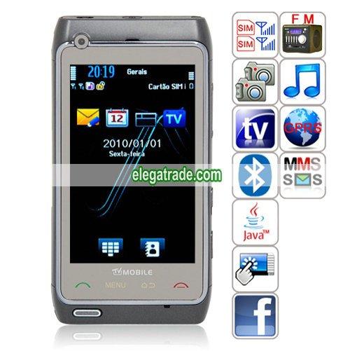 CJ N8+ Quad Band Dual Cards Dual Standby Dual Cameras Color TV Bluetooth Java Phone