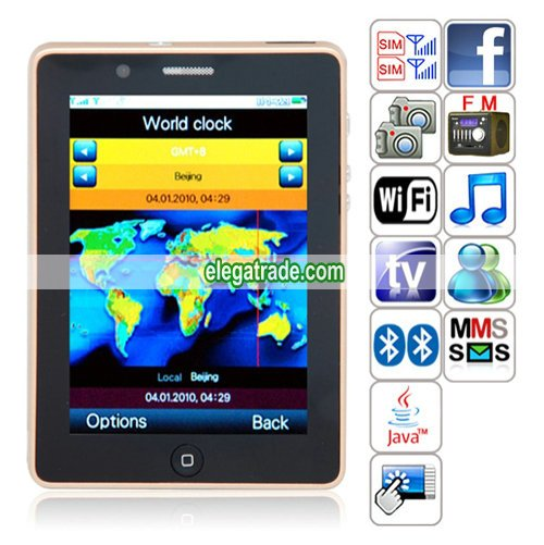 T8100 Quad Band Dual Cards Dual Standby Dual Cameras WIFI Color TV Bluetooth Java  Phone