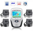 2.4GHz 4-CH LCD Wireless Receiver + 4 Pcs 2.4G 1/4 Sharp 420TV CCD Color Cameras + 8G SD Card