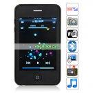 Quad Band Single Card Dual Cameras WIFI Bluetooth 3.5-inch Touch Screen Phone  - Black
