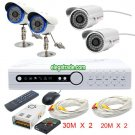 H.264 4 Channel Digital Video Recorder + Φ5-36 LEDs Camera + Φ5-48 LEDs Camera
