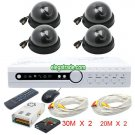 H.264 4 Channel Digital Video Recorder + Black Dome Camera