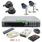H264 4 Channel Digital Video Recorder + Black Dome Camera + FAI5 48LEDs Camera