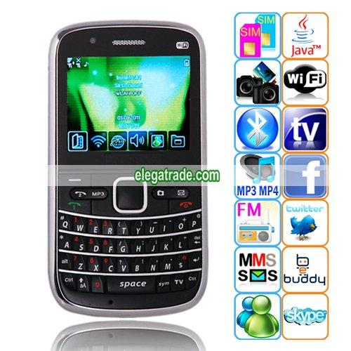 M9000  TV JAVA WIFI WAP Bluetooth 2.2-inch Display Screen QWERTY Phone