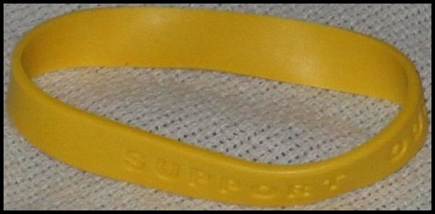 Support Our Troops in Iraq Yellow Ribbon Wristband W32 Army Patriotic Military