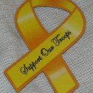 Support Our Troops in Iraq Small Magnetic Patriotic Yellow Ribbon Car Truck Auto R22