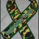 Support Our Troops in Iraq Patriotic Army Camouflage Magnetic Ribbon Car Truck Auto R32