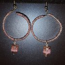 Pink Ribbon Hoops