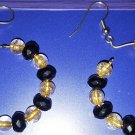 Black N Gold Hoops