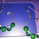Green glass n beads