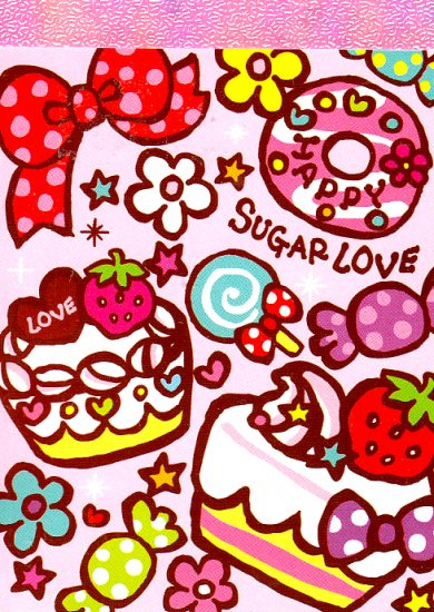 Kamio Japan Happy Sugar Love mini memo