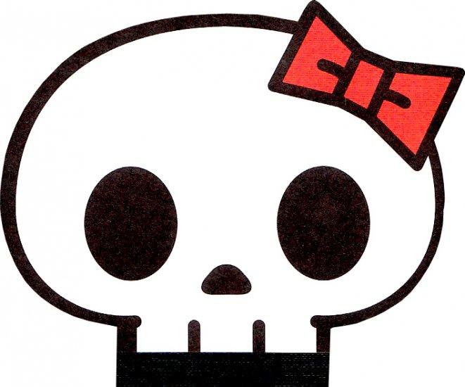 Q-Lia Skull2 die cut memo
