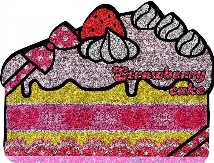 Kamio Japan Strawberry Cake die cut memo