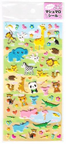 Marshmallow Seal Cute Animals Puffy Sticker Sheet