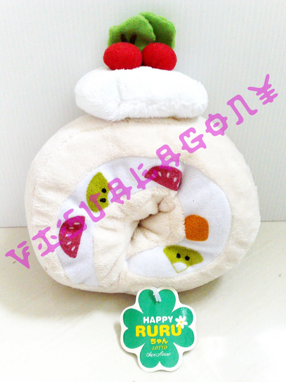 Kawaii Cream Roll Cake Plush