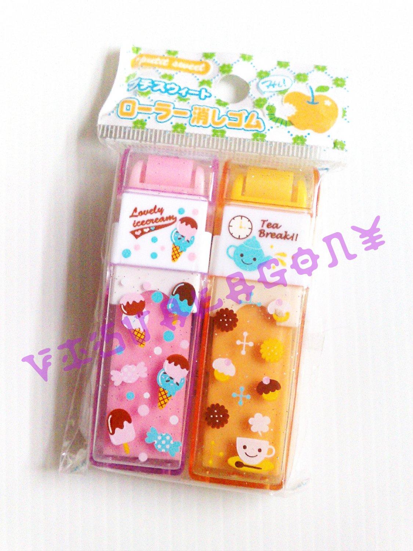 Kawaii Dessert designs Roll Dust Erasers