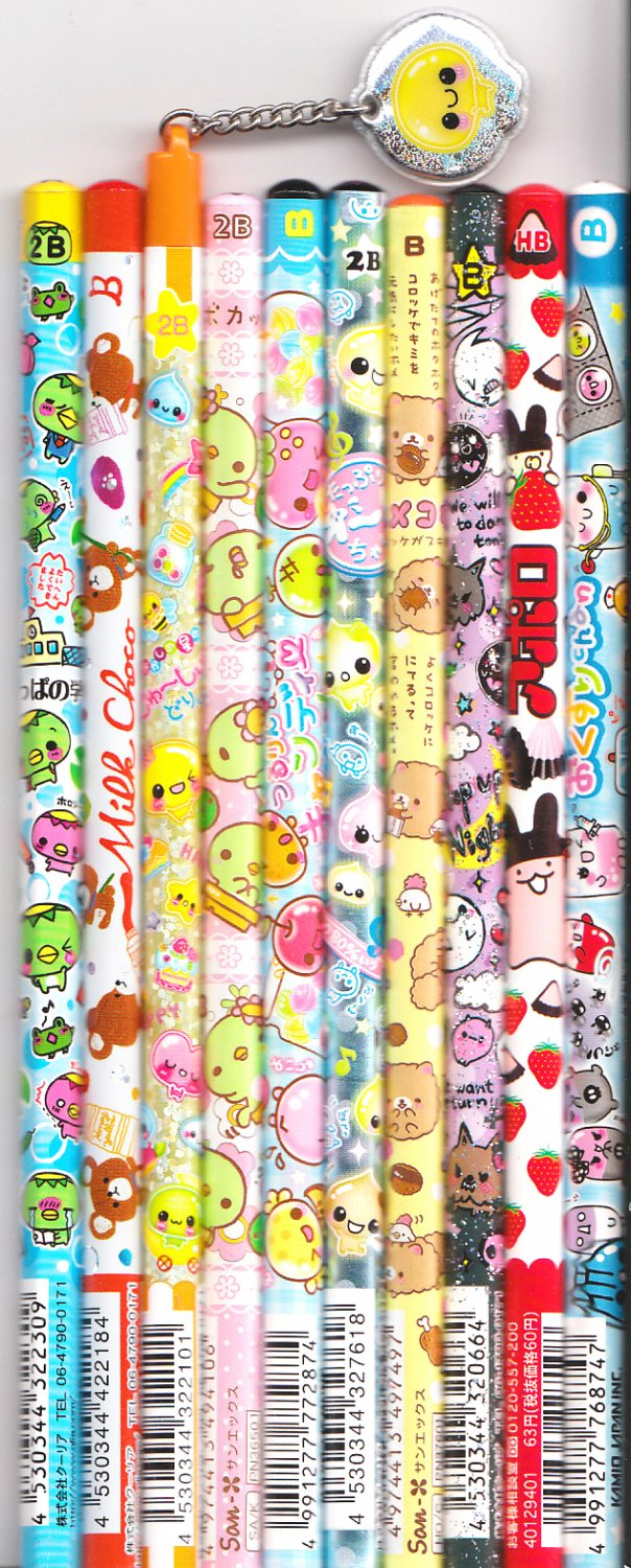 Kawaii Japanese Wooden Pencils Set 28