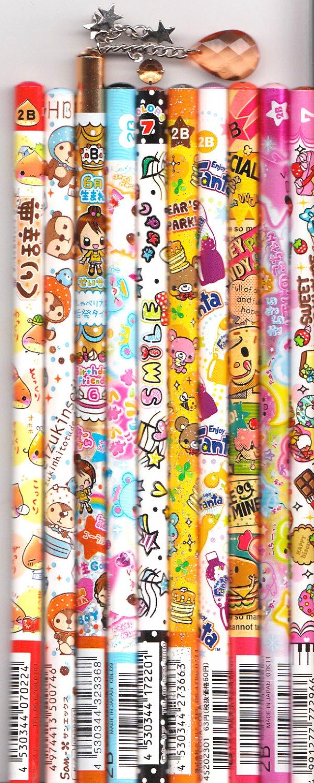 Kawaii Japanese Wooden Pencils Set 26