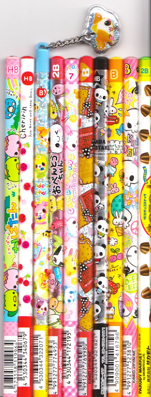 Kawaii Japanese Wooden Pencils Set 19