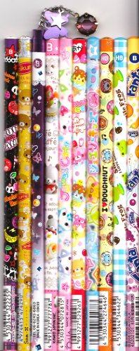 Kawaii Japanese Wooden Pencils Set 14