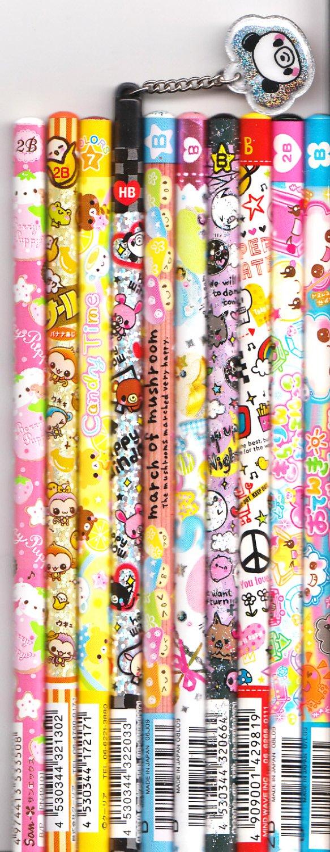 Kawaii Japanese Wooden Pencils Set 13