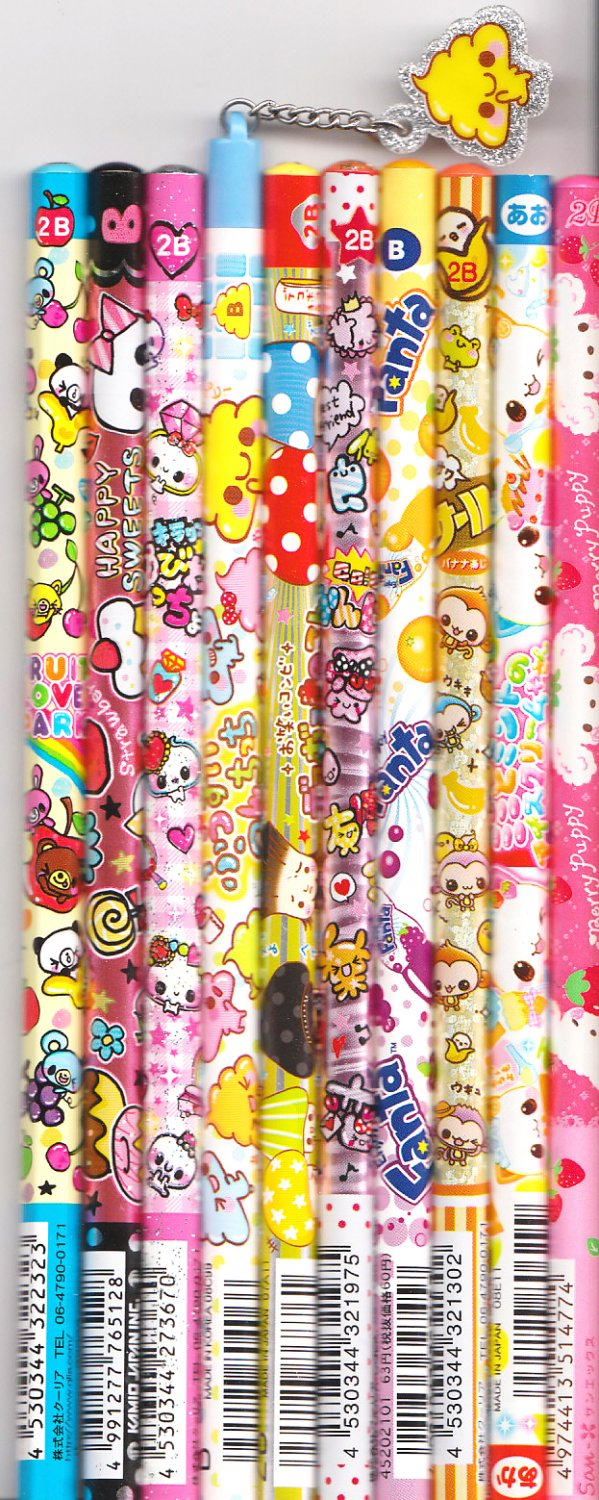 Kawaii Japanese Wooden Pencils Set 6