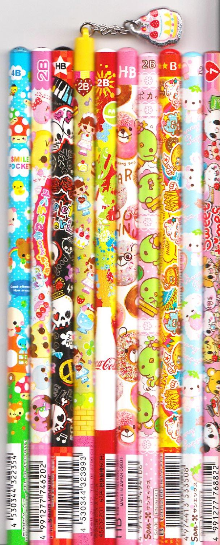 Kawaii Japanese Wooden Pencils Set 5