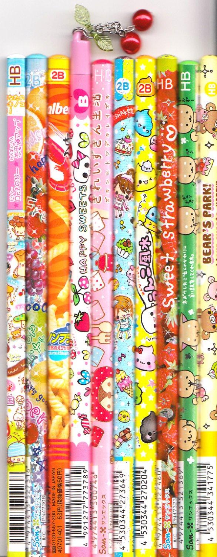 Kawaii Japanese Wooden Pencils Set 3