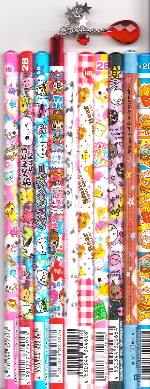 Kawaii Japanese Wooden Pencils Set 2