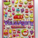 Kamio Japan Puffy Bunny Restaurant Sticker Sheet