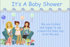 Baby shower for boy invitation