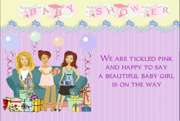 baby shower for girl invitation