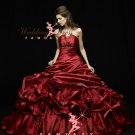 Blood Red Wedding Dress