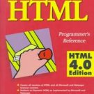 Instant HTML Programmer's Reference Html [Paperback]