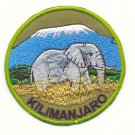 KILIMANJARO WITH ELEPHANT PATCH  - EMBROIDERED BADGE