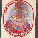 MASAI WOMAN AFRICAN TRIBES PATCH  - EMBROIDERED BADGE