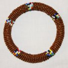 KENYA MAASAI BEADED BANGLE - GOLD - 2.5""