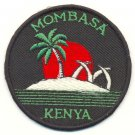 MOMBASA KENYA SUNSET PATCH  - EMBROIDERED BADGE