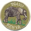TSAVO KENYA ELEPHANT PATCH  - EMBROIDERED BADGE