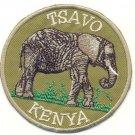 TSAVO KENYA ELEPHANT PATCH  - EMBROIDERED BADGE