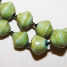 UGANDA PAPER BEADED NECKLACE HANDMADE - MEDIUM BEAD #14