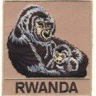 RWANDA GORILLA PATCH  - EMBROIDERED BADGE