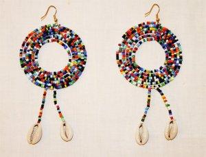 AFRICAN MAASAI (MASAI) EARRINGS - MADE IN KENYA
