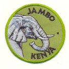 JAMBO KENYA ELEPHANT PATCH  - EMBROIDERED BADGE